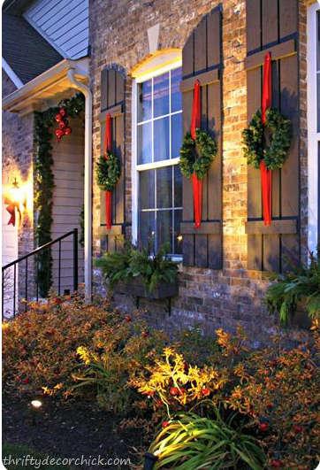 décorer les fenêtres pour Noël