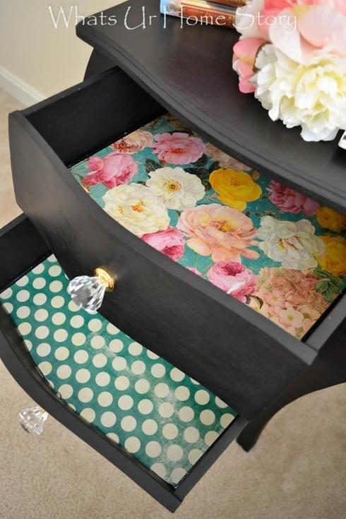 Ajouter un papier peint dans un tiroir