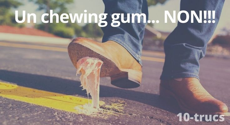 enlever du chewing gum sur du plastique, du bois et sur du tissu