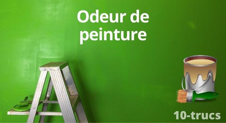 astuce pour enlever l'odeur de peinture dans la maison
