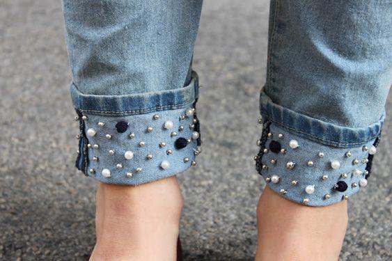 Comment coudre des perles sur un jean?