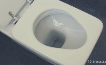 nettoyer la cuvette des WC et cuvette de la toilette
