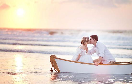 photo de mariage bateau, photo de mariage plage,