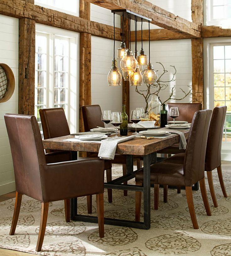 salle à manger bois, poutre salle à manger, poteau salle à manger,