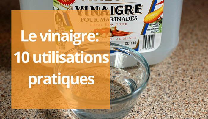 Utilisation du vinaigre pour le ménage