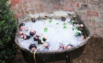 glacière bière, bière froide, brouette glacière,