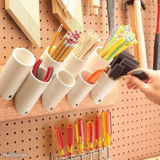 idée pour ranger les outils dans l'atelier