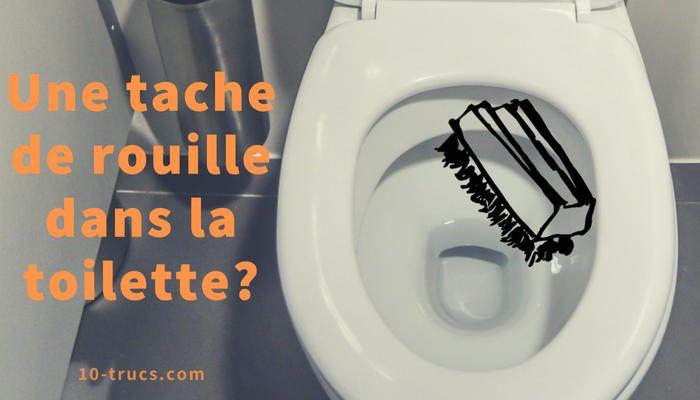 tache de rouille dans la cuvette de toilette