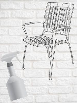 Comment nettoyer les chaises de jardin en plastique blanc?