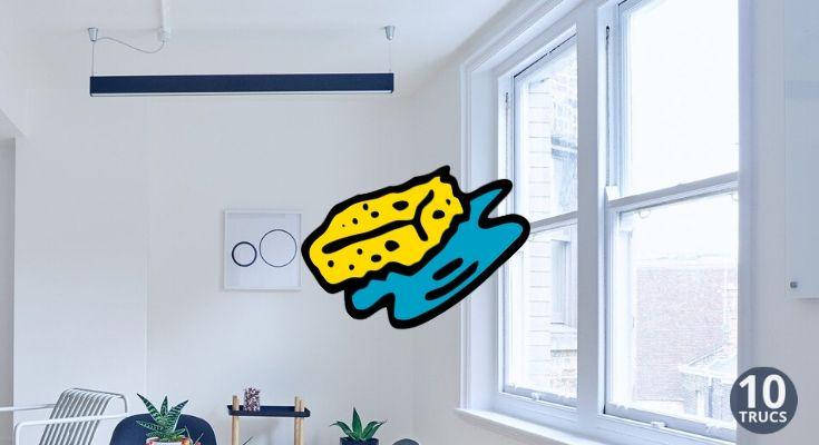 Astuce pour nettoyer fenêtre en PVC et son contour blanc