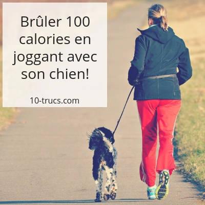 brûler 100 calories en joggant avec son chien