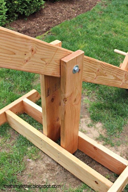 Plan pour construire une balançoire à bascule