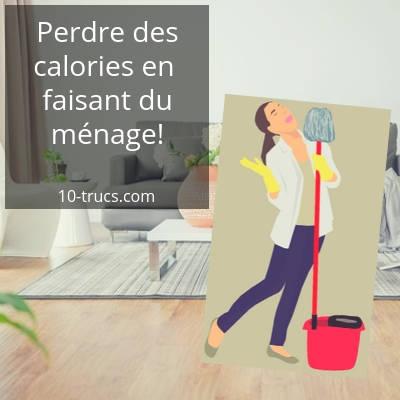 perdre des calories en faisant du ménage