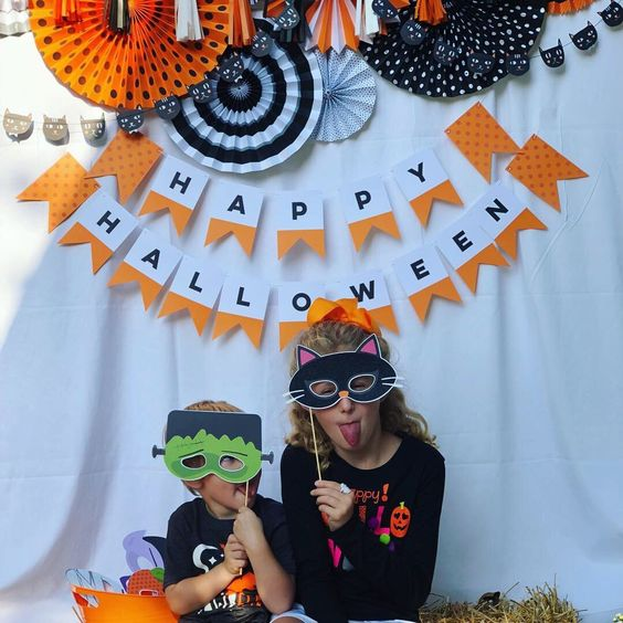 Idée de décor pour un photo booth d'Halloween