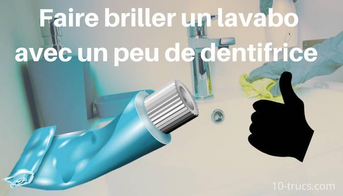faire briller un lavabo avec du dentifrice
