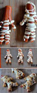 saucisse halloween, hot dog halloween,
