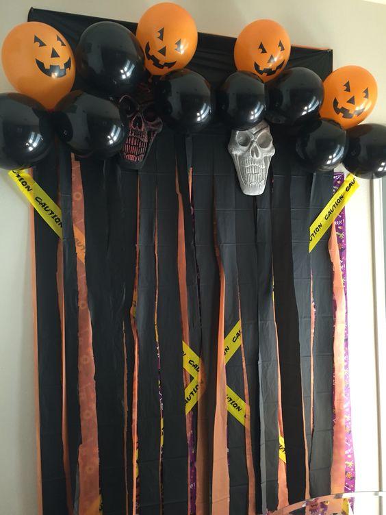 Idée de fond de Photobooth pour l'Halloween