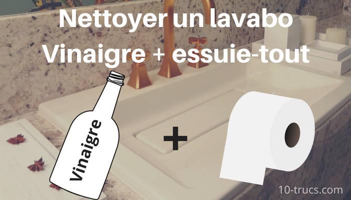 Nettoyer un lavabo naturellement avec du vinaigre