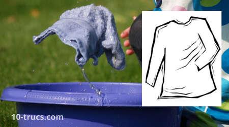 serviette humide pour défroisser un vêtement