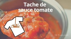 comment enlever une tache de sauce tomate sur vêtement