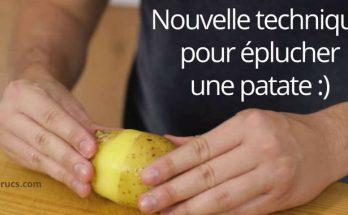 comment éplucher une patate rapidement
