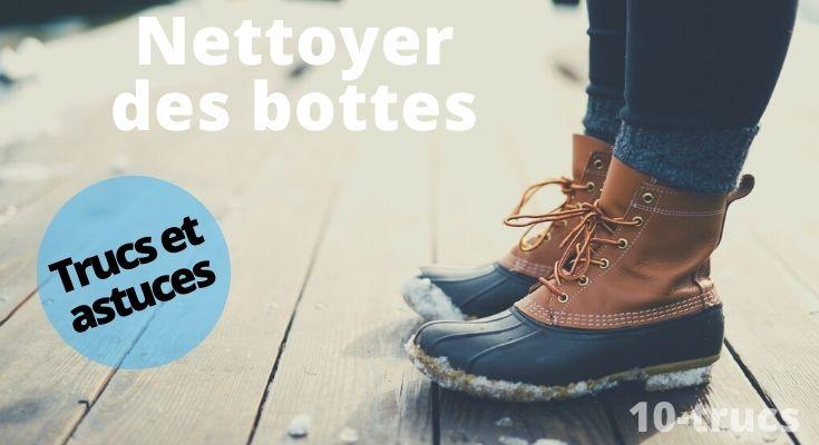Astuce pour nettoyer des bottes d'hiver en cuir et ou caoutchouc