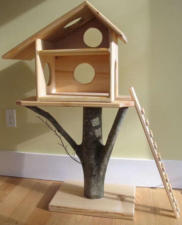 tron d'arbre chat, arbre à chat,