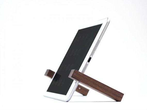 support en bois tablette, support ipad et tablette,