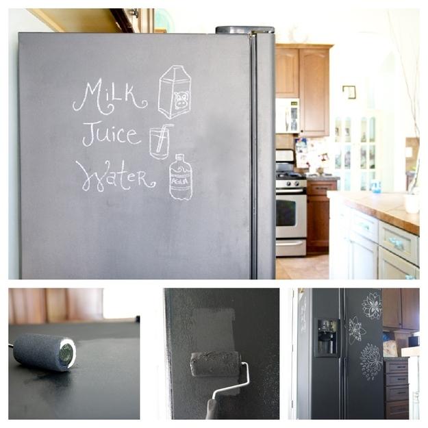 peinture à tableau réfrigérateur, peinturer un réfrigérateur,