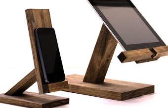 support pour ipad, support en bois pour ipad,