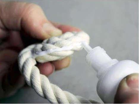 fabriquer un vase en corde, bricolage vase en corde,