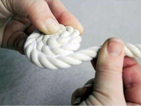 rouler la corde, coller la corde,