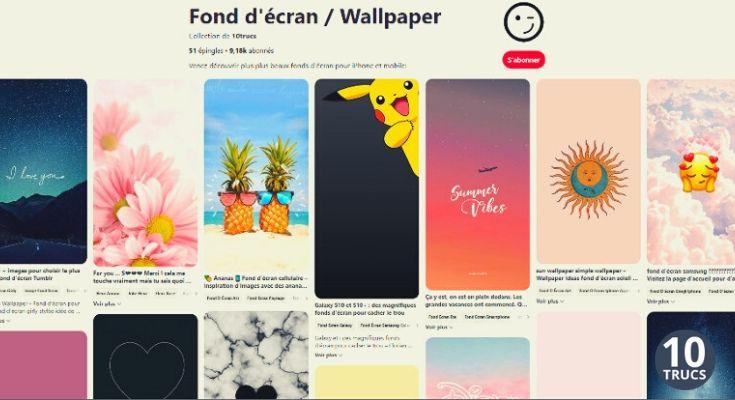 Fond d'écran sur Pinterest pour iPhone