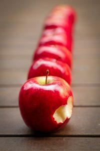 Fond d'écran de pommes et fruits pour iPhone