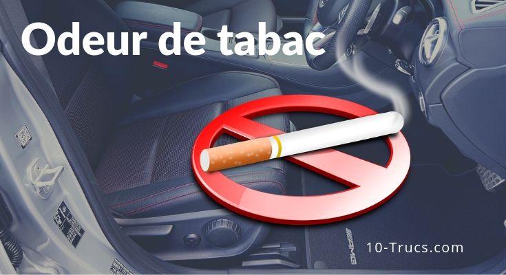 Enlever l'odeur de tabac dans une voiture
