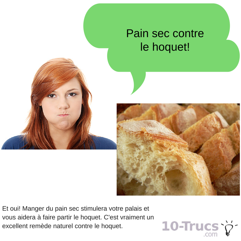 pain sec contre le hoquet, pain sec anti hoquet,