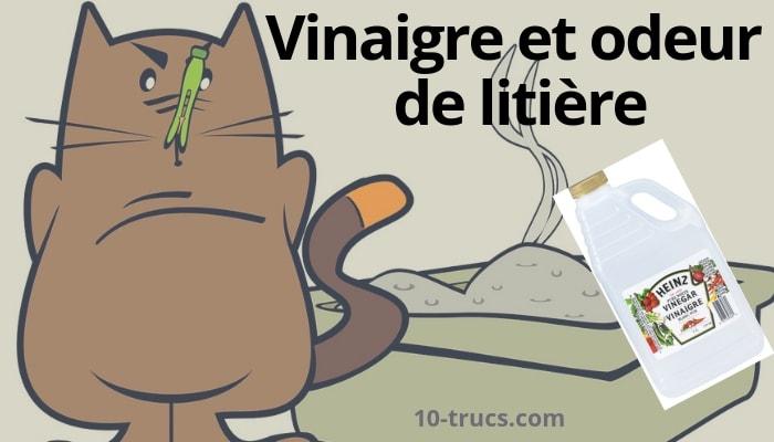 nettoyer litière à chat avec du vinaigre blanc