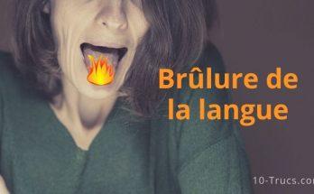 Remède pour soulager une brûlure de la langue