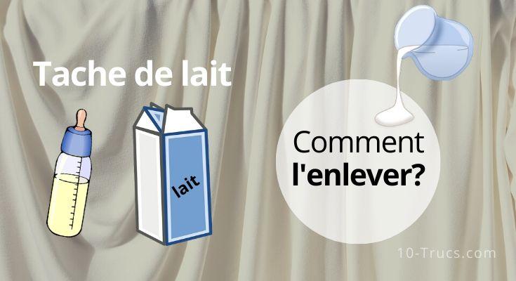 Enlever une tache de lait sur tissu