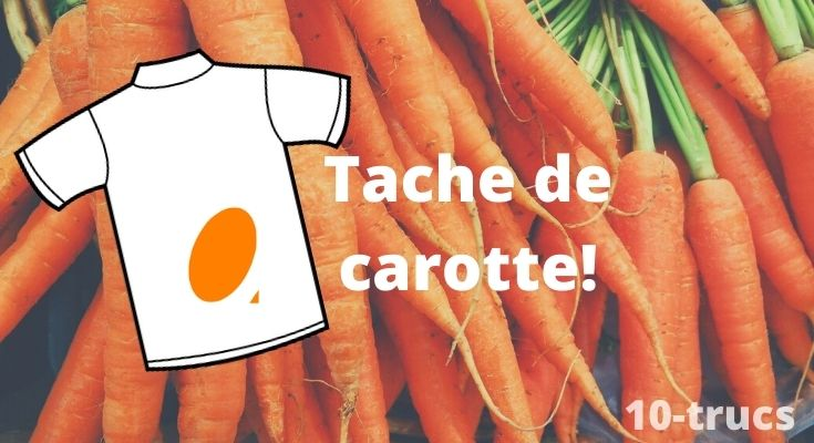 tache de carotte, enlever une tache de carotte,