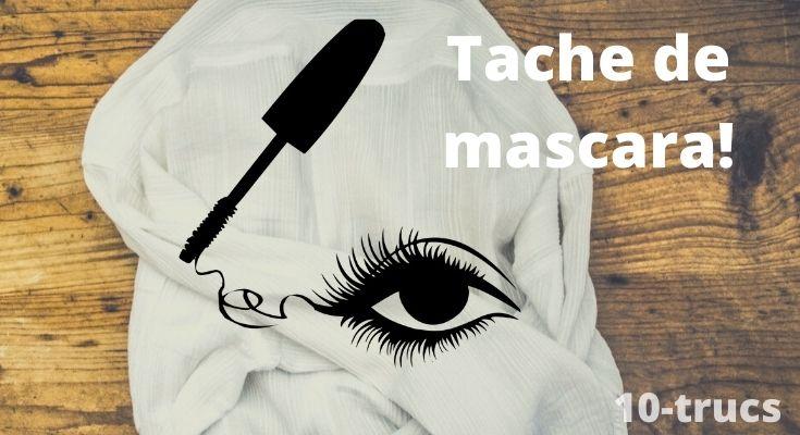 tache de mascara, enlever une tache de mascara,