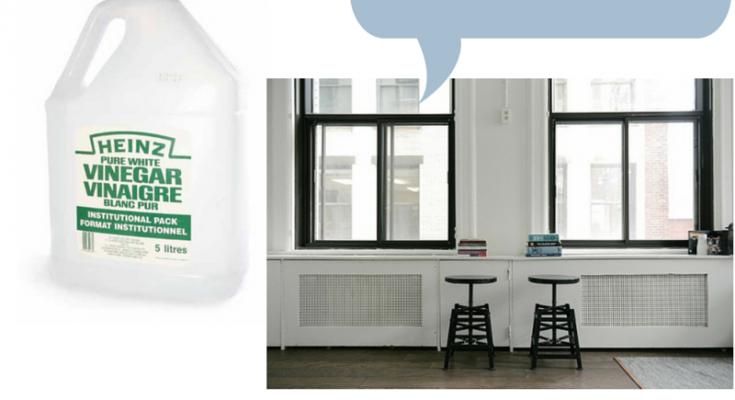 laver les fenêtres avec du vinaigre, astuce vinaigre,