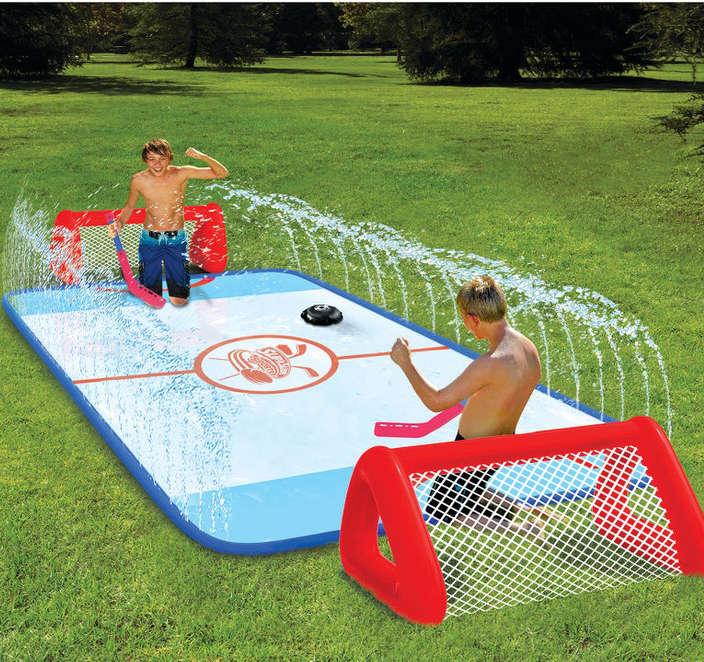 jeux hockey avec de l'eau, jeux d'eau hockey,