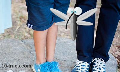 ne pas porter de vêtements bleus pour éloigner les moustiques