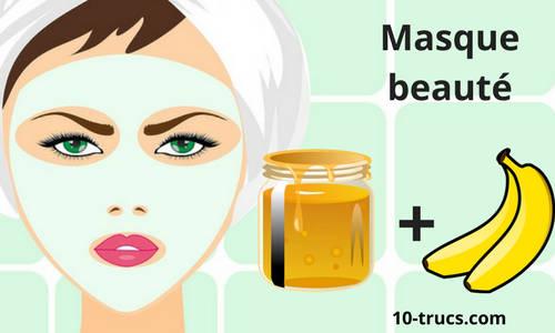 Masque beauté avec banane et miel
