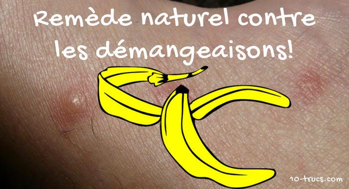 Remède naturel contre les démangeaisons avec la banane