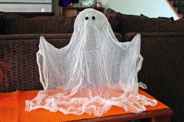 fantôme halloween, bricolage fantôme halloween,