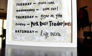 Calendrier menu, menu repas semaine,