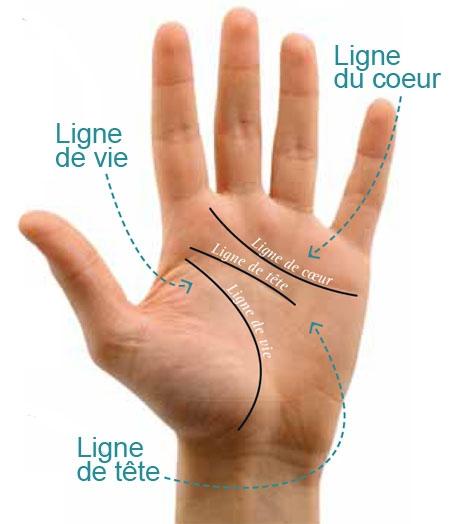 chiromancie, chiromancie lignes de la main,