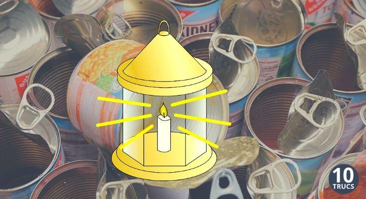 Fabriquer une lanterne avec une boite de conserve vide